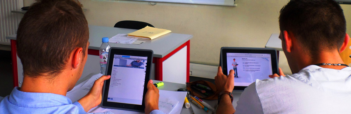 E-learning sur tablette